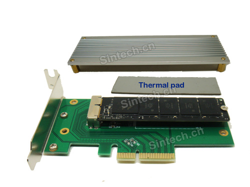 2013-2014 MacBook Pro +Air SSD to PCI-e 4X adapter