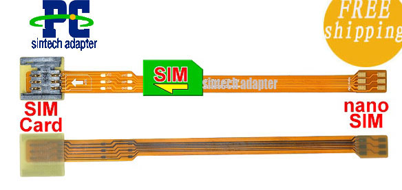 nano SIM to SIM Card Extender FFC FPC cable for iPhone 5, new iP