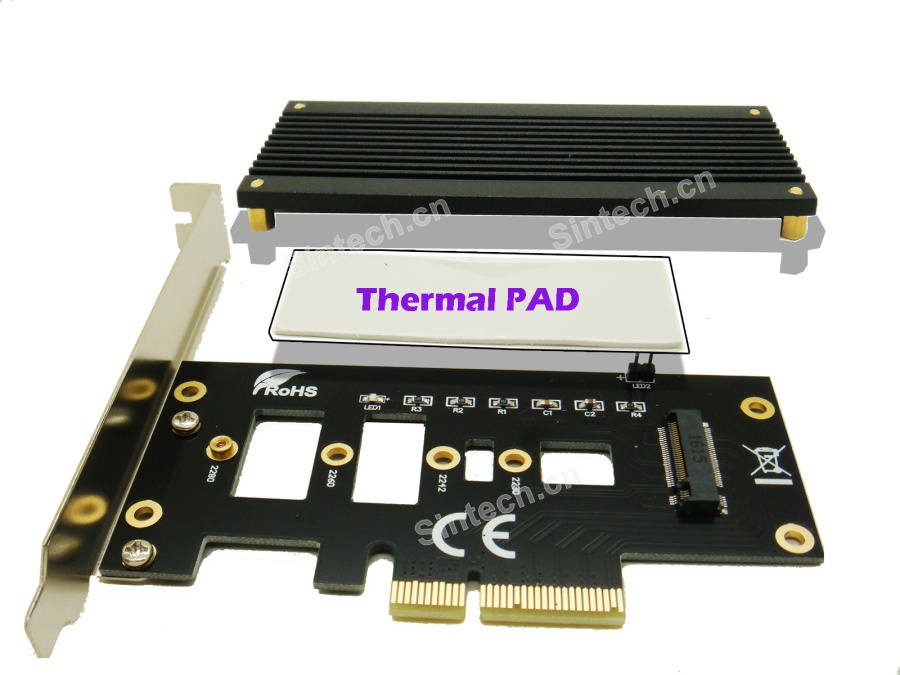 M.2 (NGFF) SSD to PCIe 3.0 X4 card for Samsung SM951 950 PRO