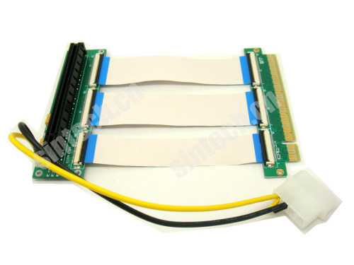 PCI-E express X16 riser extension card with 30cm FPC cable