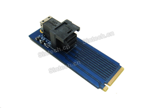 U.2 SSD Mini SAS SFF-8643 to M.2 PCIe adapter