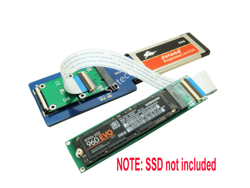 M.2 (NGFF) nVME SSD to Laptop Expresscard 34 for Samsung 950 96